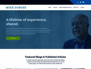 mikedubose.com screenshot