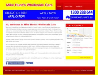 mikehuntscars.com.au screenshot