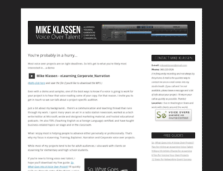 mikeklassen.com screenshot
