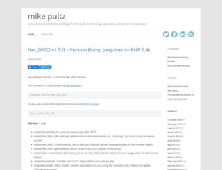 mikepultz.com screenshot