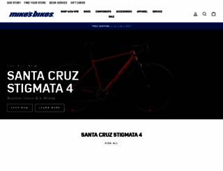 mikesbikes.com screenshot