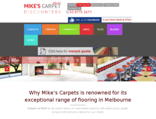 mikescarpets.com.au screenshot