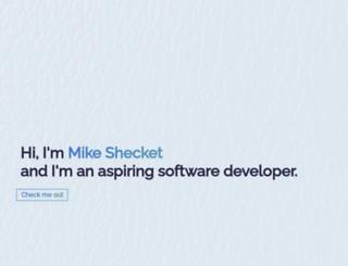 mikeshecket.com screenshot