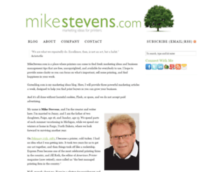 mikestevens.com screenshot