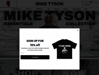 miketyson.com screenshot