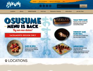 mikunisushi.com screenshot
