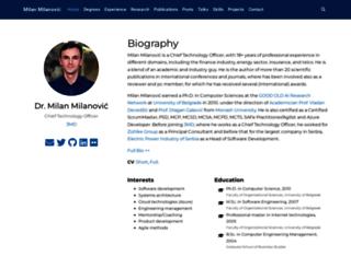 milan.milanovic.org screenshot