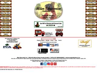 milantobacco.com screenshot