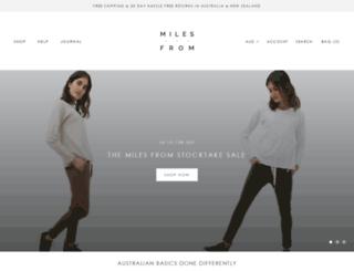 milesfrom.com.au screenshot