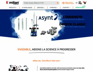 milian.com screenshot