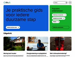 milieucentraal.nl screenshot