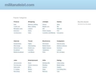 militanateist.com screenshot