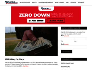 militarybenefits.info screenshot