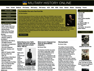 militaryhistoryonline.com screenshot