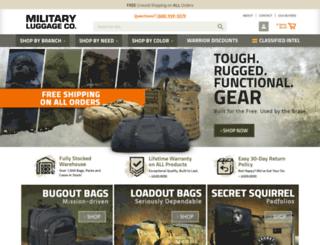 militaryluggage.com screenshot