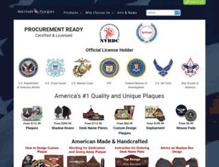 militaryplaques.com screenshot