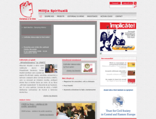 militiaspirituala.ro screenshot