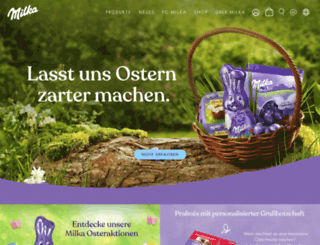 milka.de screenshot
