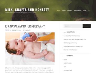 milkcraftsandhonesty.com screenshot