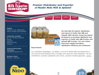 milkexporter.com screenshot