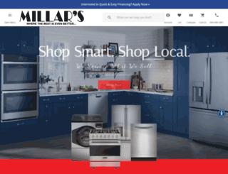 millarsappliance.com screenshot
