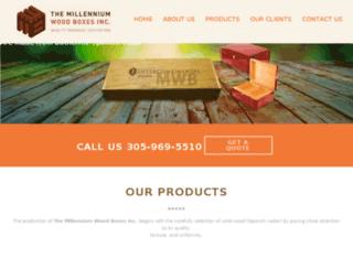 millenniumwoodboxes.com screenshot