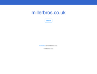 millerbros.co.uk screenshot