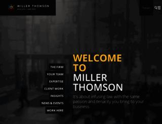 millerthomson.com screenshot
