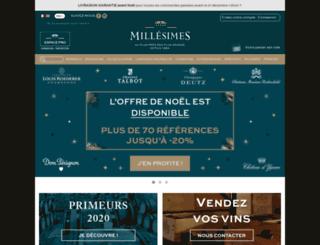 millesimes.com screenshot