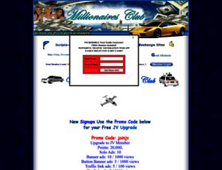 millionairesclub.globalhitshosting.com screenshot