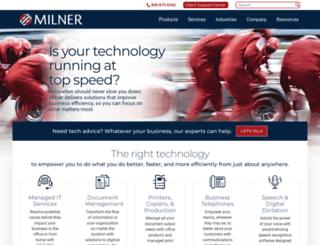 milner.com screenshot