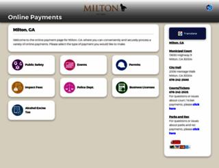 miltonga.governmentwindow.com screenshot