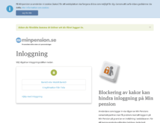 minasidor.minpension.se screenshot