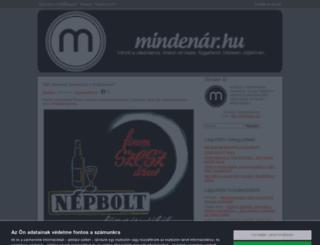 mindenar.cafeblog.hu screenshot