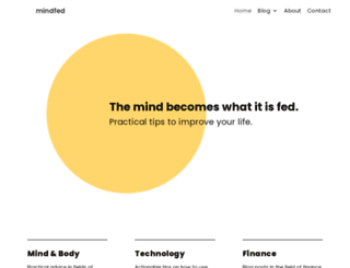 mindfed.com screenshot