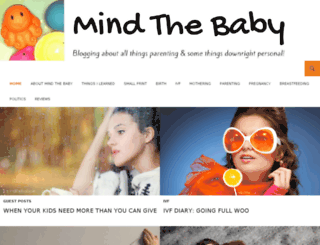 mindthebaby.ie screenshot
