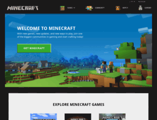 minecraft.net screenshot