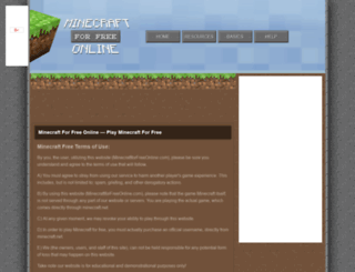 minecraftforfreeonline.com screenshot