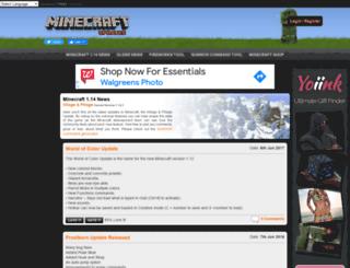 minecraftupdates.com screenshot