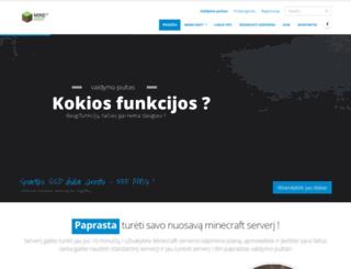 minehost.lt screenshot
