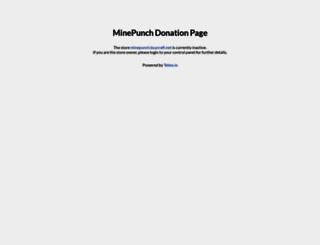 minepunch.buycraft.net screenshot