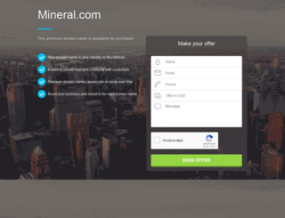 mineral.com screenshot
