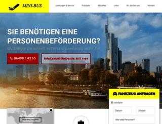 minibus-holzapfel.de screenshot