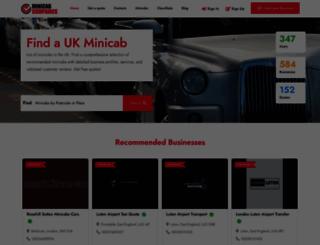 minicabs101.co.uk screenshot