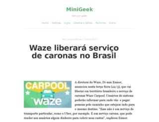 minigeek.com.br screenshot