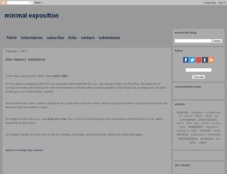 minimalexposition.blogspot.fr screenshot
