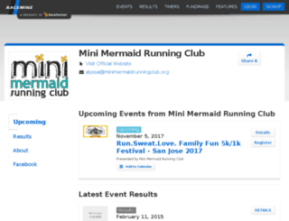 minimermaids.racemine.com screenshot