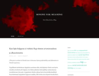 mining4meaning.com screenshot