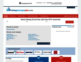 miningoilandgasjobs.com screenshot