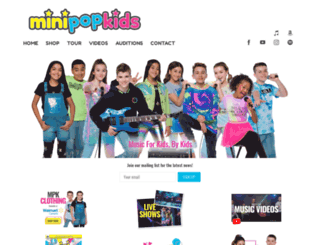 minipopkids.com screenshot